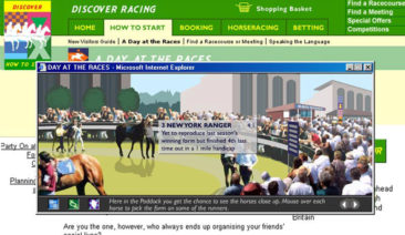 British Horseracing Board: Discover Racing Consumer site