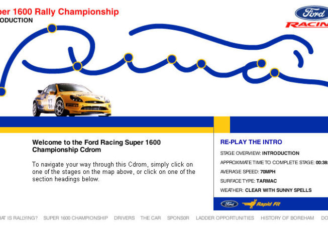 FORD RACING SUPER 1600 RALLY - Cd-Rom Screenshot