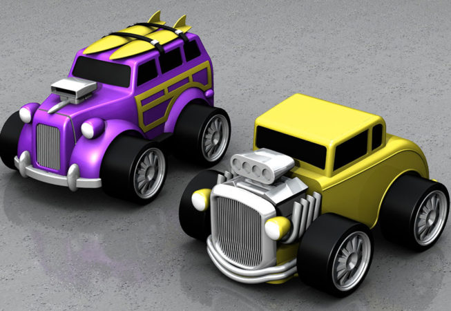 MATTEL HOTWHEELS REV-UP's - Autodesk Showcase Rendering