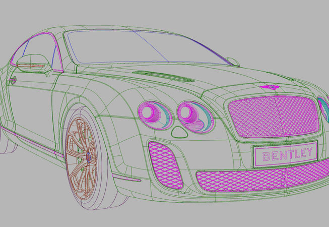 BENTLEY GT SUPERSPORTS - Autodesk Alias Surface Screenshot
