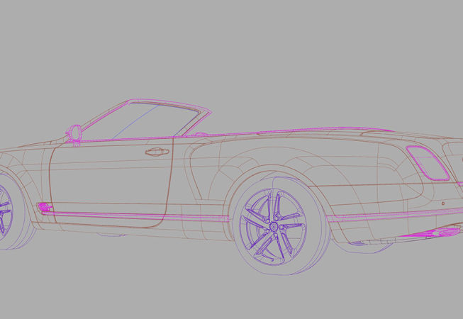 BENTLEY GRAND CONVERTIBLE - Autodesk Alias Surface Screenshot