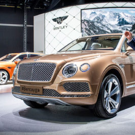 Bentley Bentayga launch at the Frankfurt Motor Show