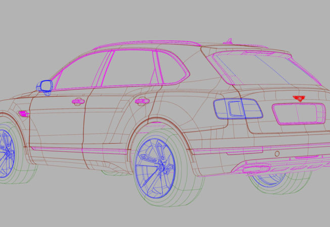 BENTLEY BENTAYGA - Autodesk Alias Surface Screenshot