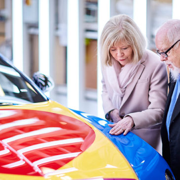 Sir Peter Blake creates Pop Art Bentley for charity auction