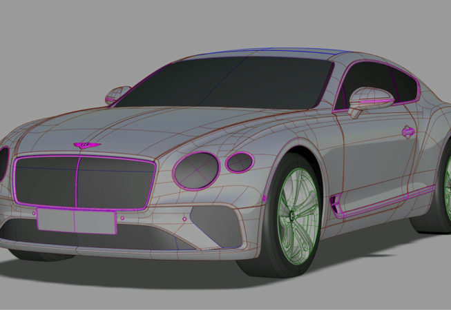 BENTLEY CONTINENTAL GT - Autodesk Alias Surface Screenshot